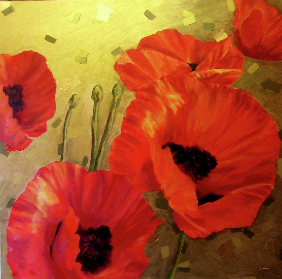 Poppy Painting - Poppy Power by Jennifer  Blenkinsopp