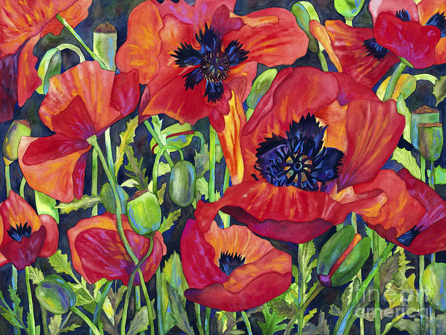 Poppies Painting - Poppy Profusion by Barb Pearson