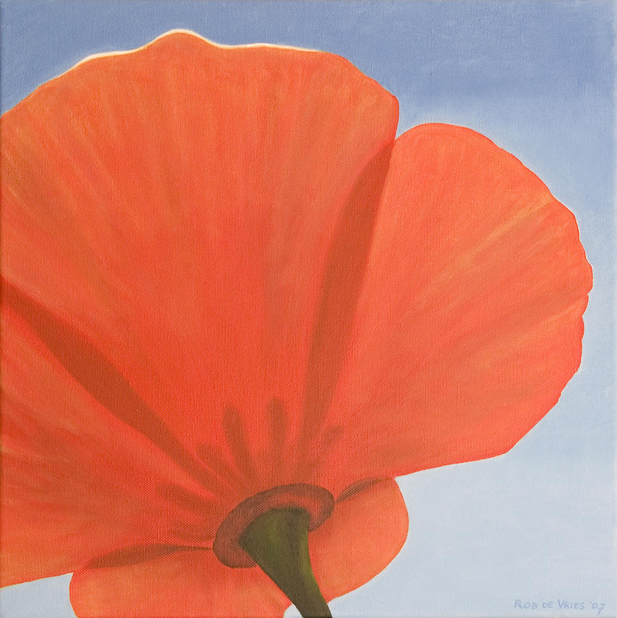 Flower Painting - Poppy by Rob De Vries