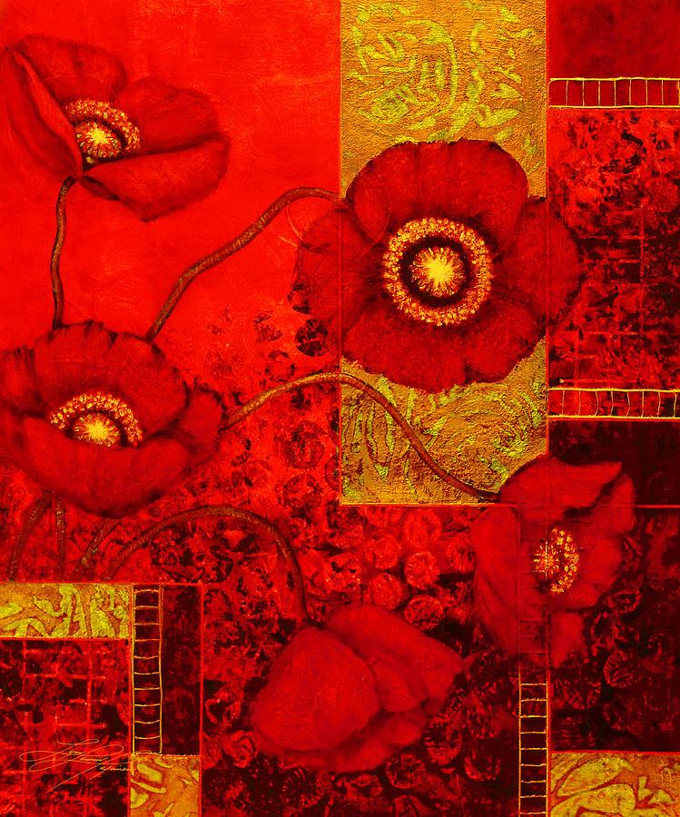 Poppy Painting - Poppy Treasures II by Lynn Lawson Pajunen