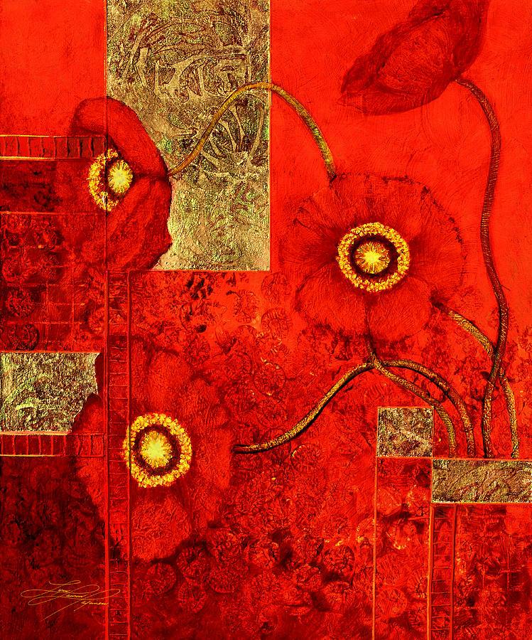 Poppy Painting - Poppy Treasures by Lynn Lawson Pajunen