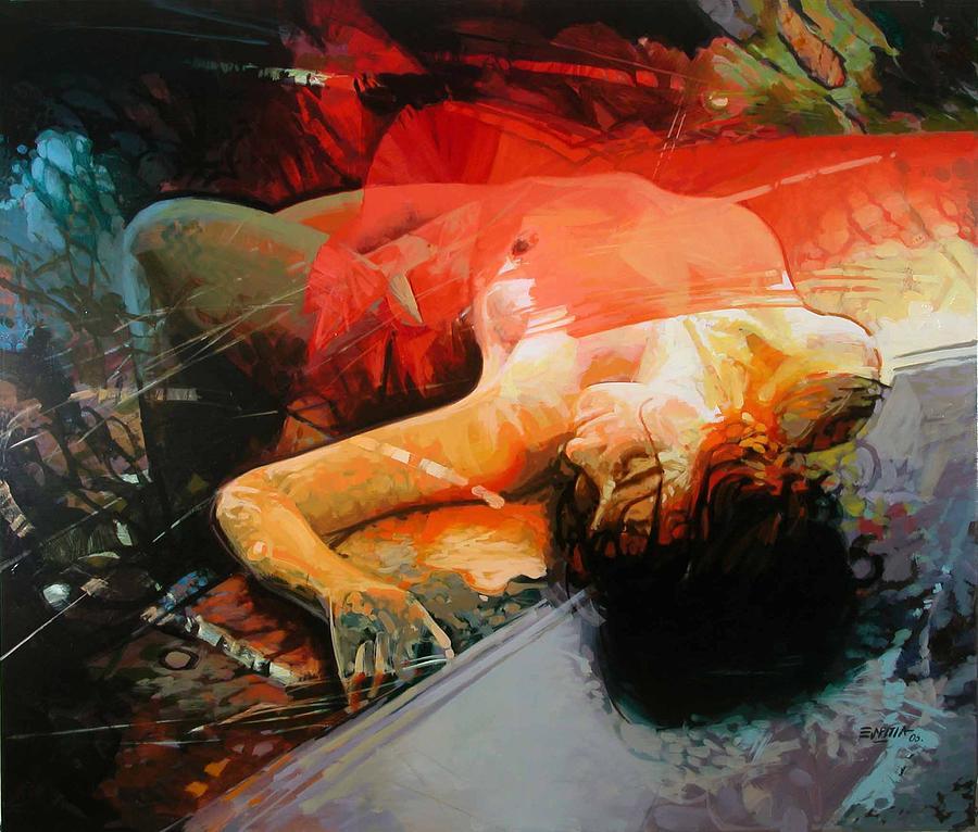 Figurative Painting Painting - Por Las Ramas by Rafael Espitia