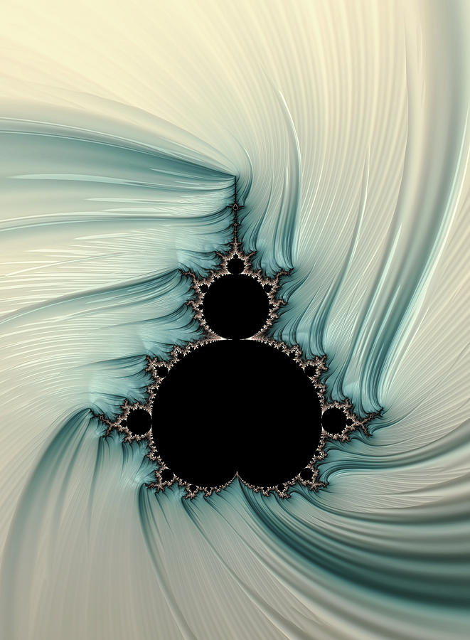 Frax Digital Art - Porcelain mandelbrot by Hakon Soreide