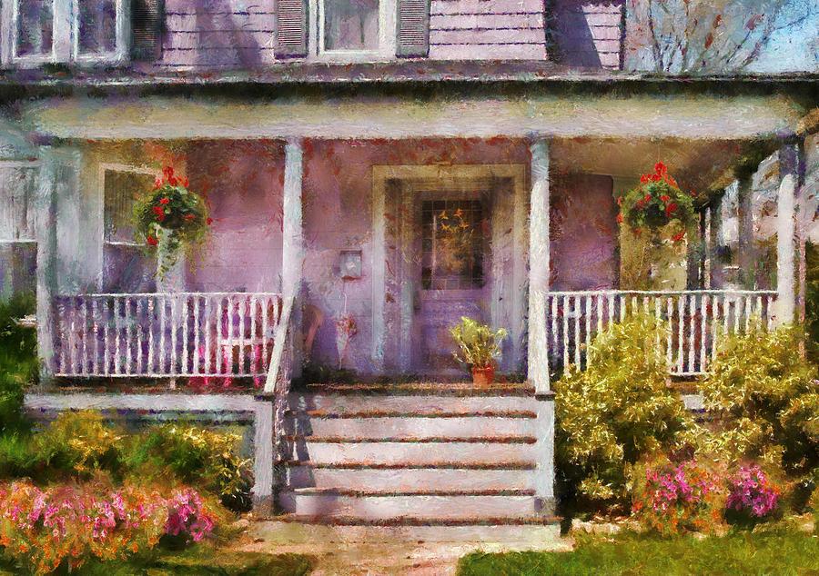 Savad Photograph - Porch - Cranford Nj - Grandmotherly Love by Mike Savad