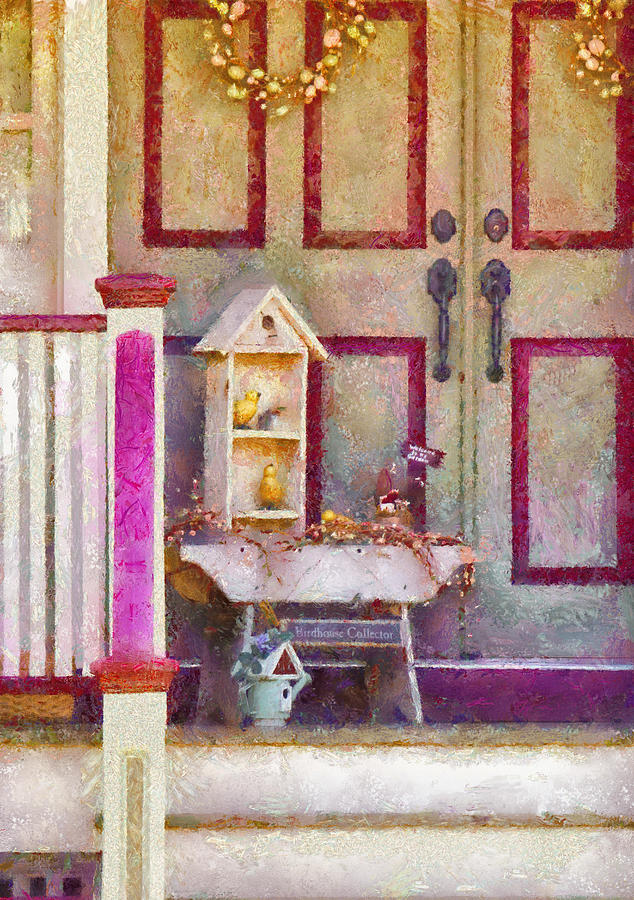 Savad Photograph - Porch - Cranford Nj - The Birdhouse Collector by Mike Savad