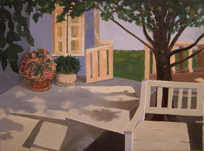 Porch In The Afternoon Painting by Frank Sharp