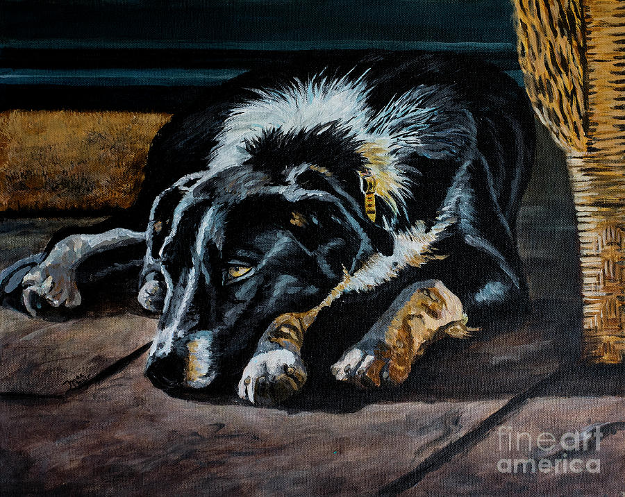 Porch Pup by Jackie MacNair