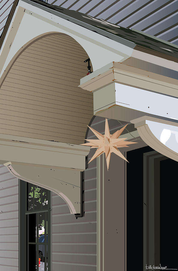 Small Town Digital Art - Porch Star by Bill Dussinger