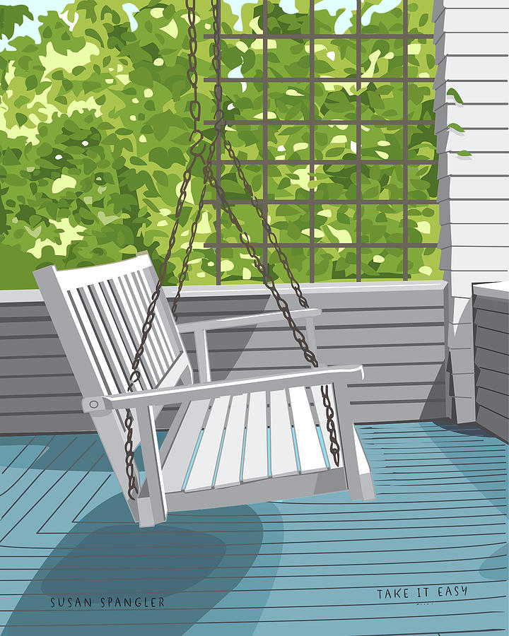 Porch Swing Digital Art - Porch Swing by Susan Spangler