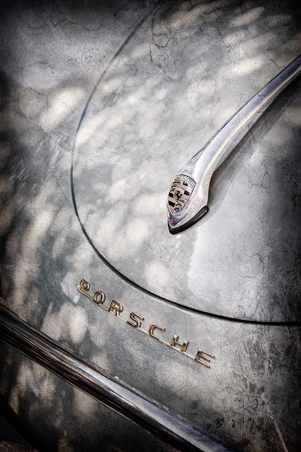 Porsche Emblem Photograph - Porsche 1600 Super Hood Emblem -0324ac by Jill Reger