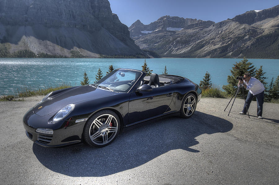 Porsche 911 Photograph - Porsche 911 Cab At Bow Lake by Kevin Johnston