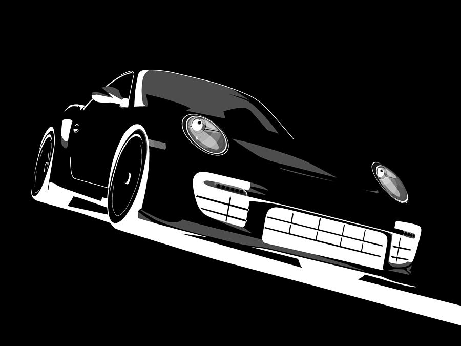 Porsche 911 Gt2 Night Digital Art By Michael Tompsett