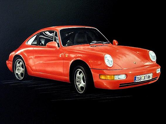 Sportscar Painting - Porsche 911 by Manfred Burgard