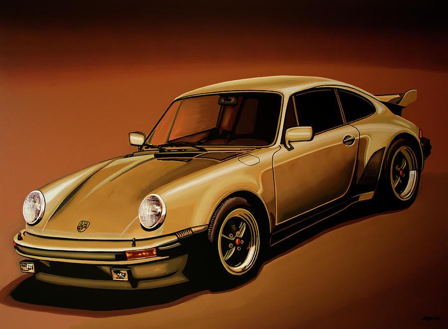 Porsche 911 Painting - Porsche 911 Turbo 1976 Painting by Paul Meijering
