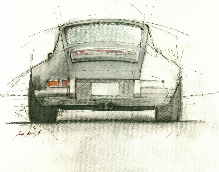 Porsche 911 Painting - Porsche 911 Rs by Juan Bosco