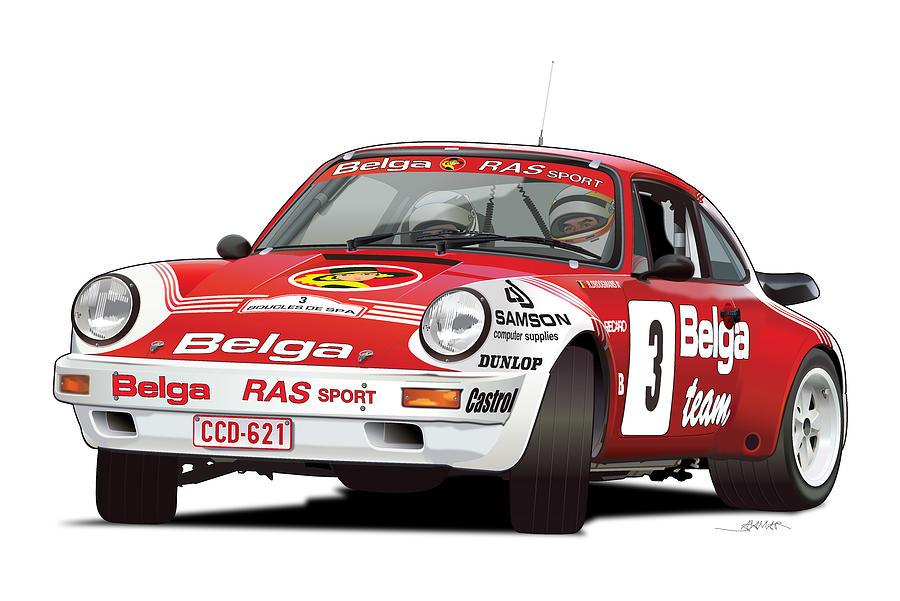 Porsche 911 Sc Rs Belga Team Digital Art By Alain Jamar