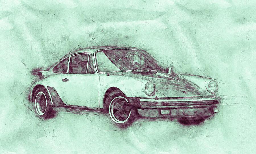 Porsche 911 - Sports Car 3 - Roadster - Automotive Art - Car Posters Mixed Media