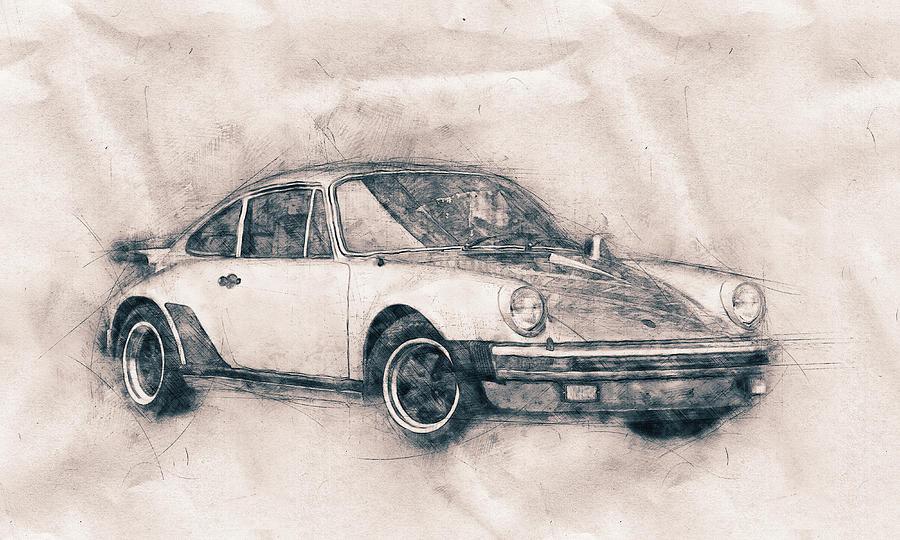 Porsche 911 - Sports Car - Roadster - Automotive Art - Car Posters Mixed Media