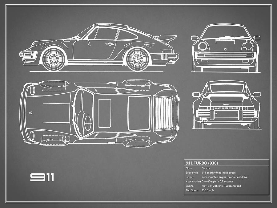 Unique vehicle blueprints composition everything you need to know porsche blueprint art fine art america malvernweather Images