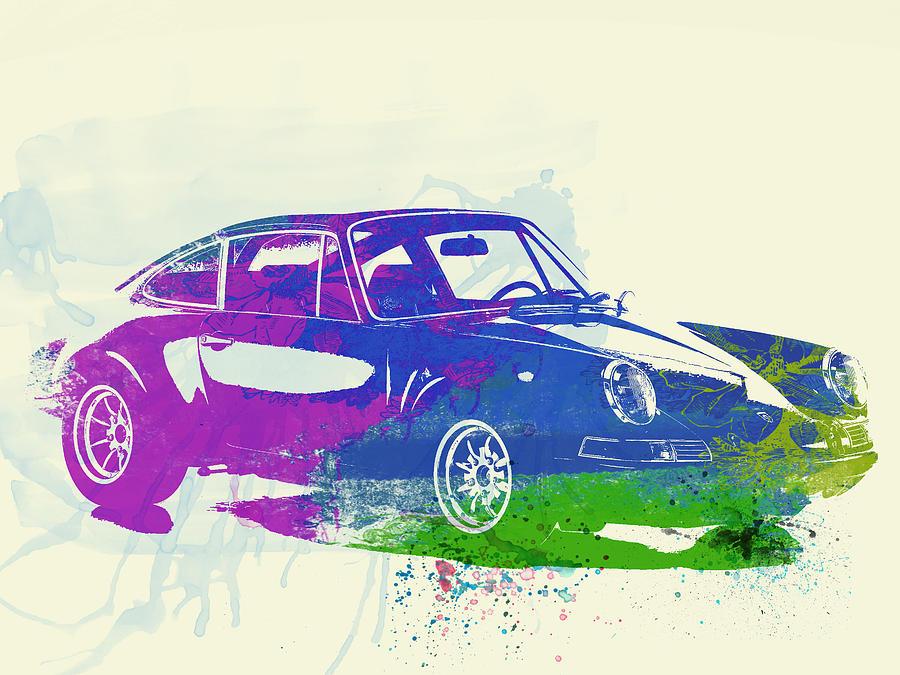 Porsche Painting   Porsche 911 Watercolor By Naxart Studio