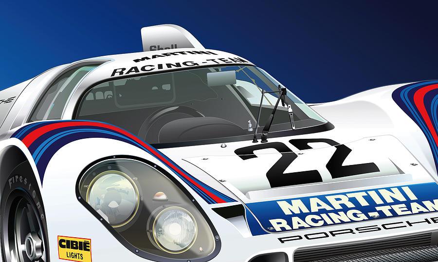 Porsche 917k Digital Art by Alain Jamar