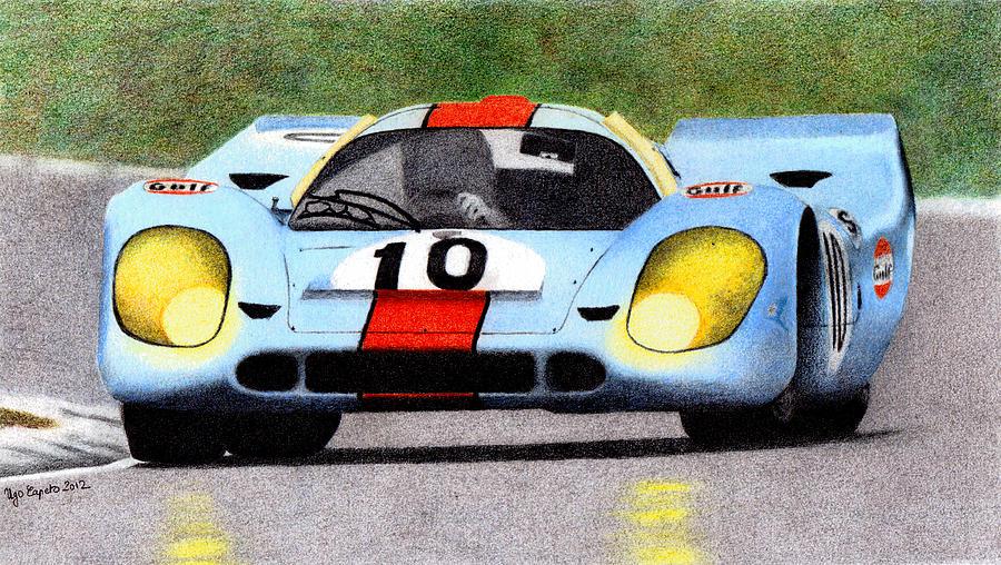 Formula 1 Painting - Porsche 917k Pedro Rodriguez 1970 by Ugo Capeto