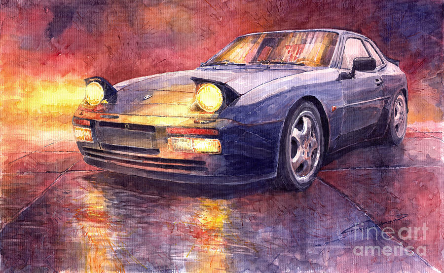 porsche 944 turbo painting by yuriy shevchuk. Black Bedroom Furniture Sets. Home Design Ideas