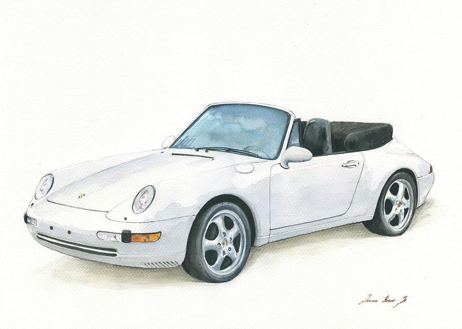 Porsche 993 Painting - Porsche 993 Cabrio by Juan Bosco