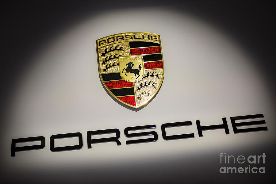 Porsche Car Emblem Photograph