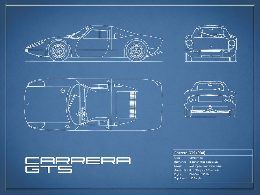 Porsche Photograph Carrera Gts Blueprint By Mark Rogan: Porsche 904 Engine Diagram At Executivepassage.co