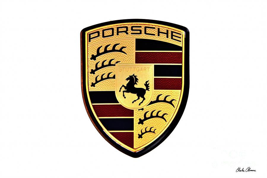 Porsche Emblem On White