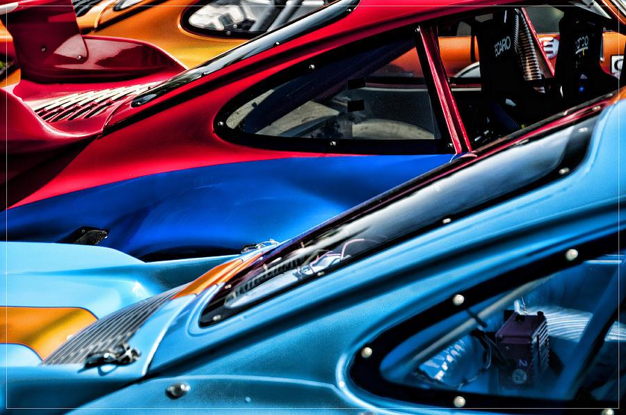 Porsche Photograph - Porsche Fins by Barry C Donovan