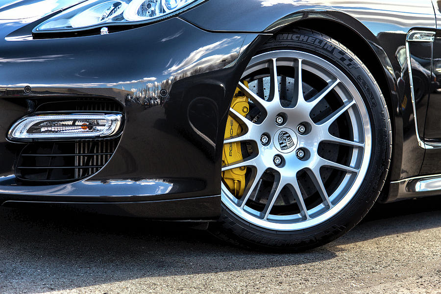 Porsche Panamera Front Wheel Photograph by 2bhappy4ever