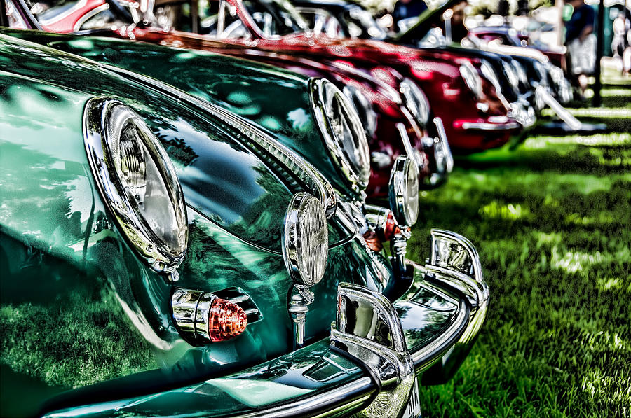 Porsche Photograph - Porsche Row by Barry C Donovan