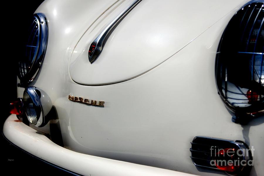 Porsche Photograph - The White Porsche  by Steven Digman