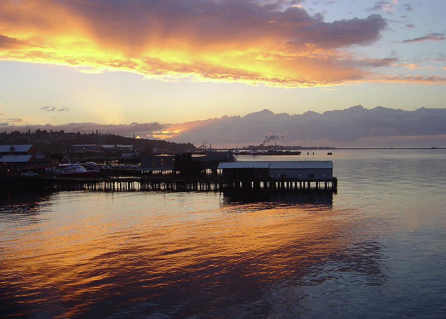Washington State Photograph - Port Angeles Sunset by William Moore