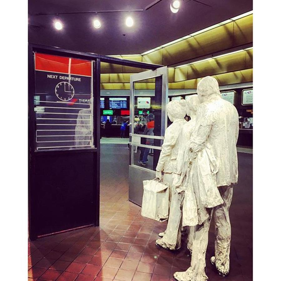 Statues Photograph - Port Authority #busstation #newyorkcity by Joan McCool