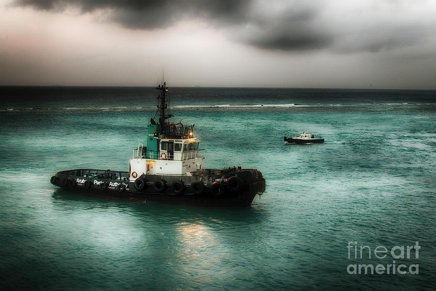 Aruba Photograph - Port Authority - Good Morning Aruba  by Steven Digman