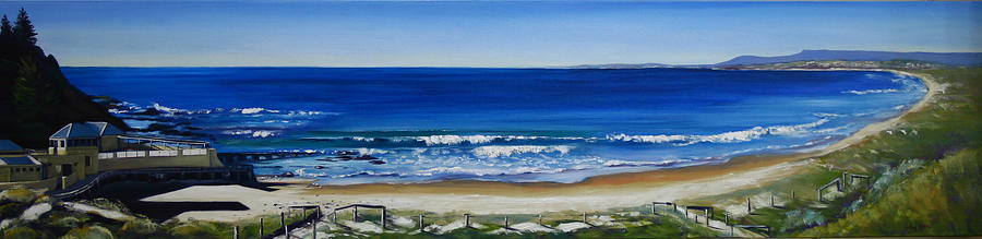 Seascape Painting - Port Beach by Kathy  Karas