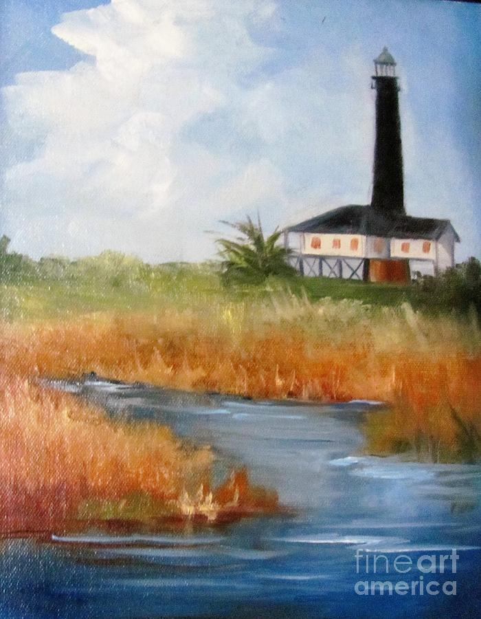 Port Bolivar Lighthouse by Barbara Haviland