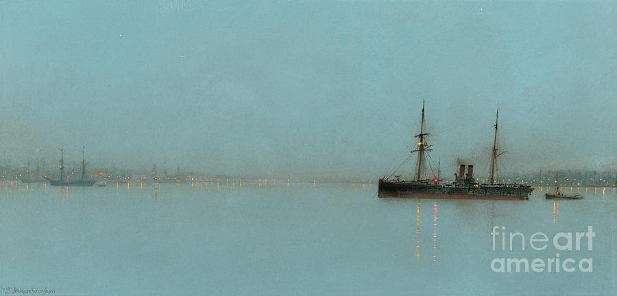 Port Painting - Port Light by John Atkinson Grimshaw