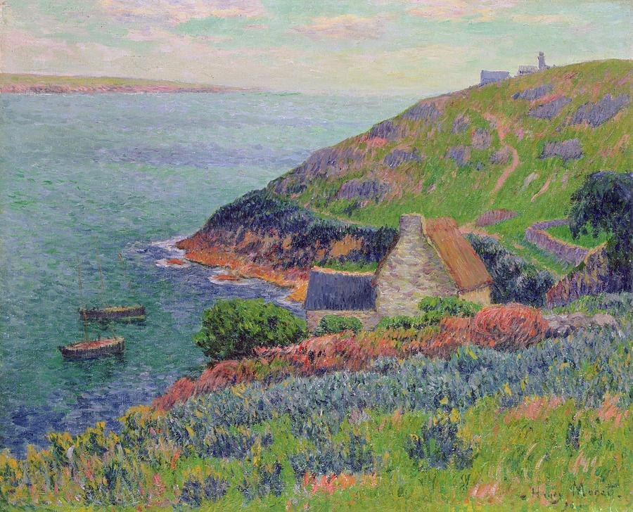 Port Painting - Port Manech by Henry Moret