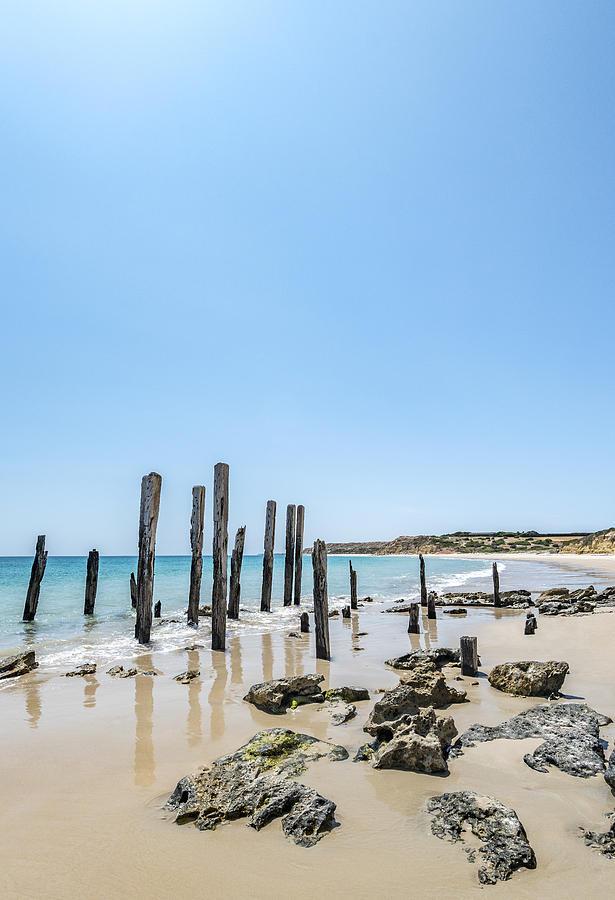 Beach Photograph - Port Noarlunga Pylons by Todd Scheetz