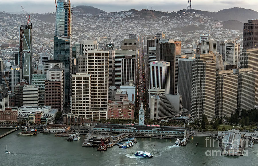 Port Of San Francisco Photograph - Port Of San Francisco And Downtown Financial District by David Oppenheimer