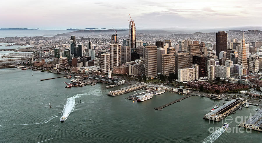 Port Of San Francisco Photograph - Port Of San Francisco And Downtown Financial Districtport Of San Francisco And Downtown Financial Di by David Oppenheimer