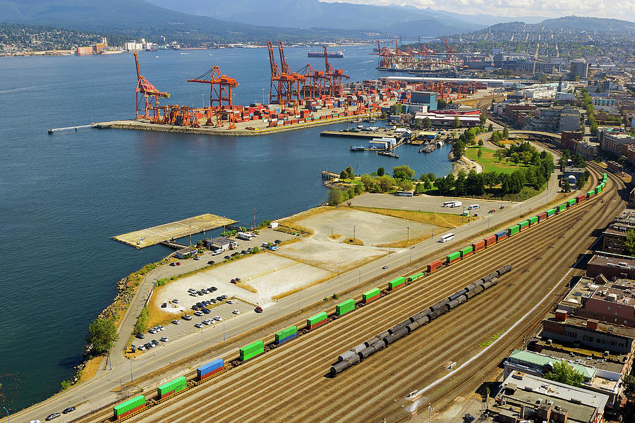 Vancouver Photograph - Port Of Vancouver Bc by David Gn
