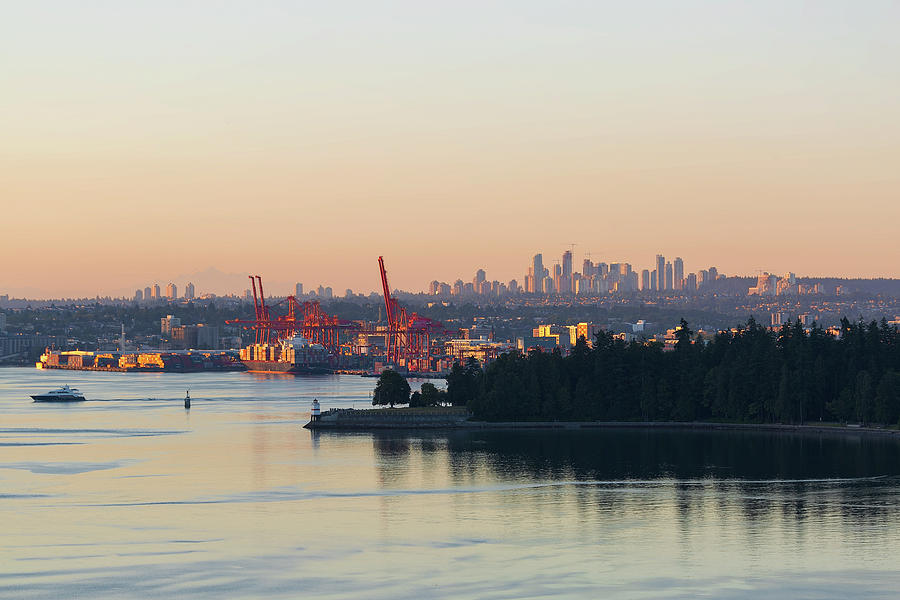 Port Photograph - Port Of Vancouver By Stanley Park by David Gn