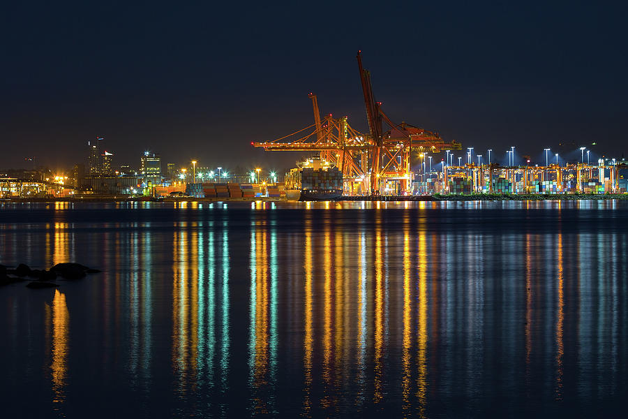 Port Photograph - Port Of Vancouver In British Columbia Canada by David Gn