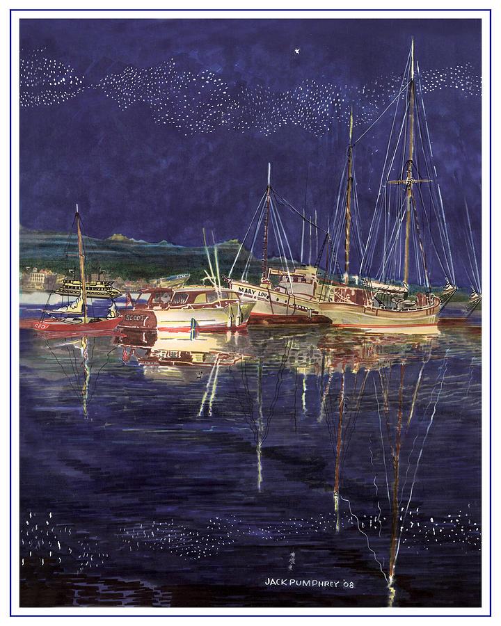 Marina Evening Reflections Painting by Jack Pumphrey