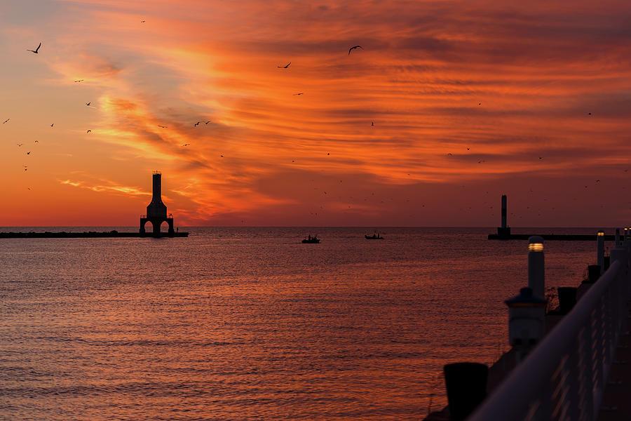 Port Washington Marina Sunrise March 2018 by James Meyer